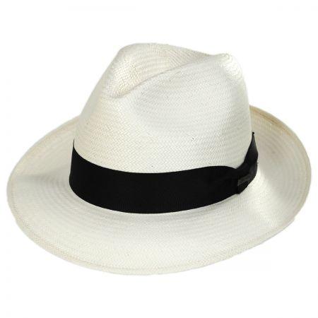 Biltmore Aston Shantung Straw Trilby Fedora Hat
