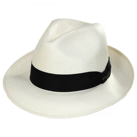 Aston Shantung Straw Trilby Fedora Hat alternate view 1