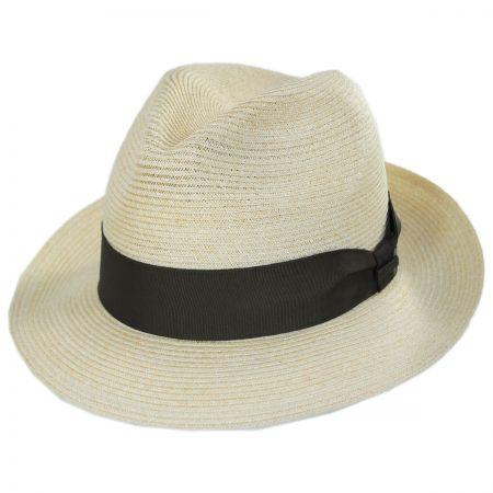 Baron Hemp Straw Trilby Fedora Hat alternate view 1