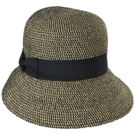 Tweed Braid Toyo  Straw Cloche Hat