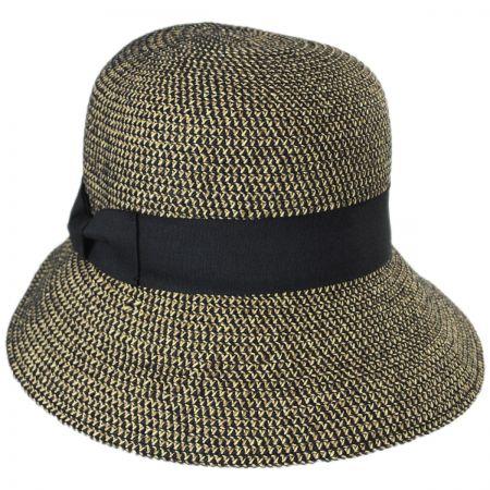 Jeanne Simmons Tweed Braid Toyo  Straw Cloche Hat