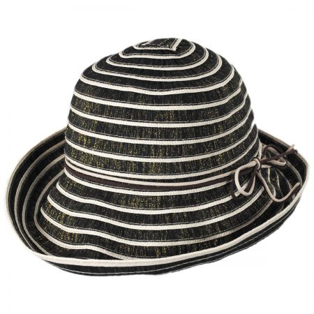Metallic Ribbon Cloche Hat alternate view 1