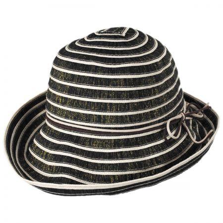 Metallic Ribbon Cloche Hat 62005a2848e