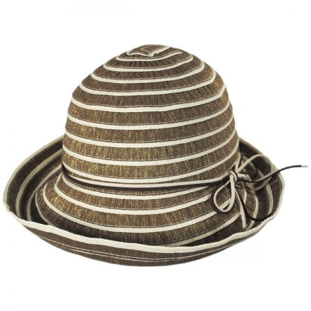 Metallic Ribbon Cloche Hat alternate view 5