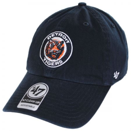 Detroit Tigers MLB Cooperstown Clean Up Strapback Baseball Cap Dad Hat alternate view 1