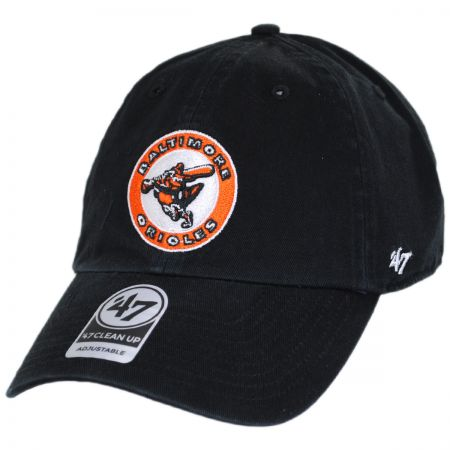 47 Brand Baltimore Orioles MLB Cooperstown Clean Up Strapback Baseball Cap Dad Hat