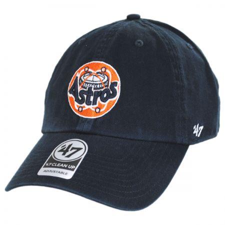 Houston Astros MLB Cooperstown Clean Up Strapback Baseball Cap Dad Hat alternate view 1
