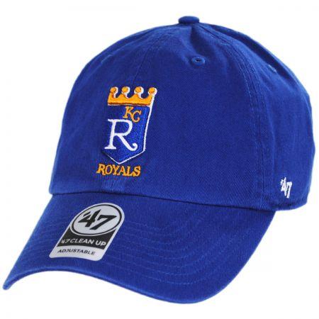 47 Brand Kansas City Royals MLB Cooperstown Clean Up Strapback Baseball Cap Dad Hat