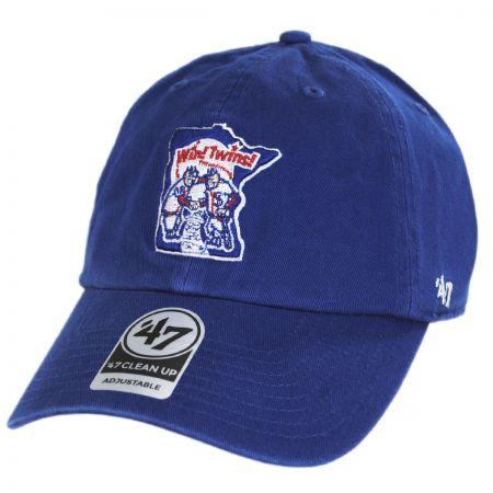 ae9ca9e52b0 47 Brand Minnesota Twins MLB Cooperstown Clean Up Strapback Baseball Cap  Dad Hat