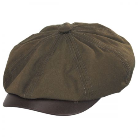 Stetson Hatteras Wax Cotton Blend Newsboy Cap