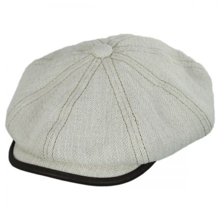 Stetson Lambskin Bill Linen and Cotton Newsboy Cap