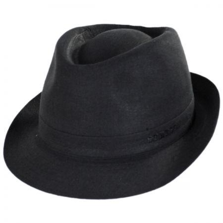 Linen Delave Trilby Fedora Hat