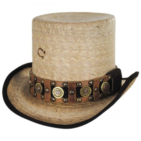 Charlie 1 Horse Quick Draw Palm Leaf Straw Top Hat