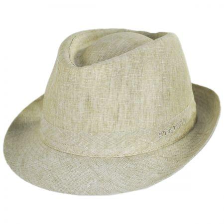 Linen Delave Trilby Fedora Hat alternate view 9