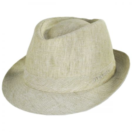 Linen Delave Trilby Fedora Hat alternate view 16