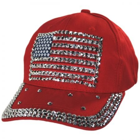 Studded Flag Strapback Baseball Cap Dad Hat alternate view 5