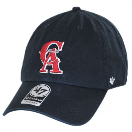 47 Brand Los Angeles Angels of Anaheim MLB Cooperstown Clean Up Strapback Baseball Cap Dad Hat