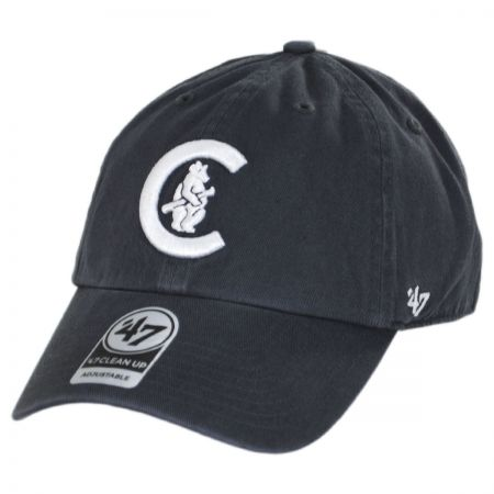 cf3b9c8e 47 Brand Chicago Cubs MLB Cooperstown Clean Up Strapback Baseball Cap Dad  Hat