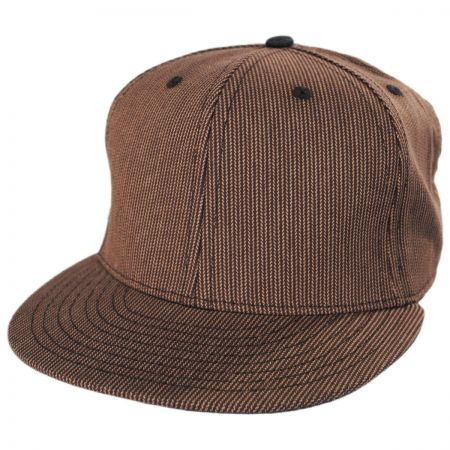 Brown Fitted Baseball Cap at Village Hat Shop 156e899fc836