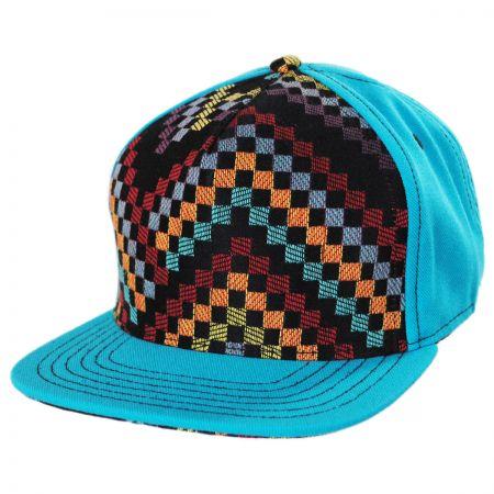 Teal Checkered Snapback Baseball Cap alternate view 1