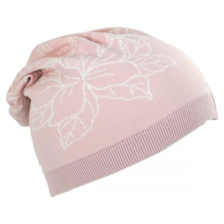 Parkhurst Floral Cotton Slouchy Beanie Hat