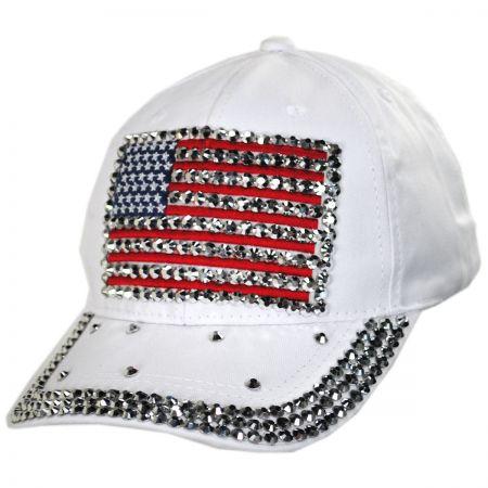 Something Special Studded Flag Strapback Baseball Cap Dad Hat