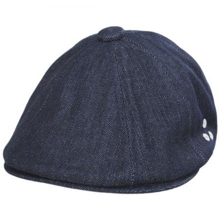 Hawker Cotton Denim Stitch Newsboy Cap alternate view 9
