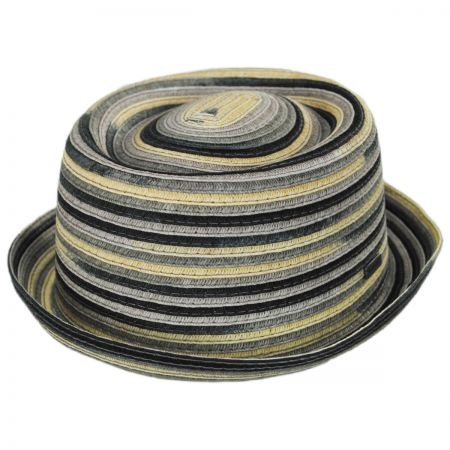 Spacedyed Toyo Straw Braid Pork Pie Hat