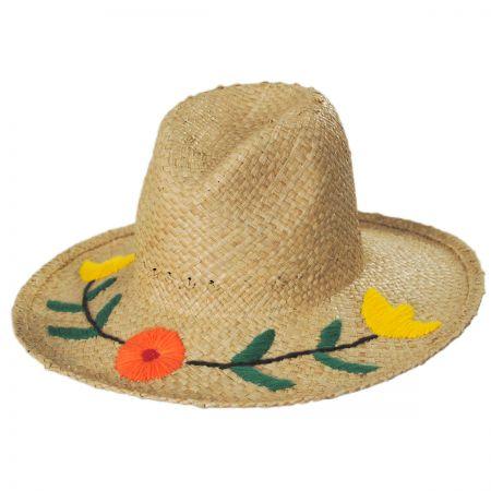 Brixton Hats Jenna II Raffia Straw Western Hat