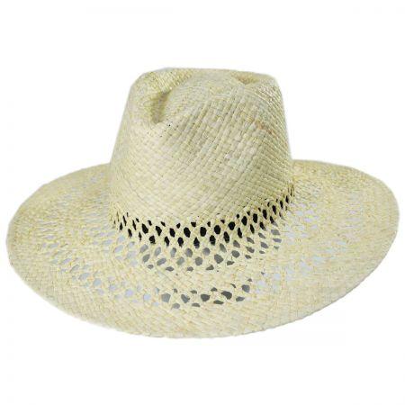 Brixton Hats Hampton Raffia Straw Fedora Hat