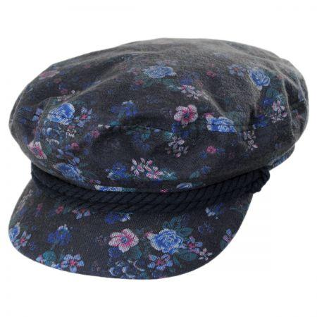 Brixton Hats Floral Cotton Fiddler Cap