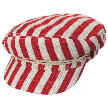 Striped Cotton Blend Fiddler Cap alternate view 1