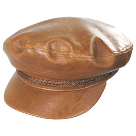 Vegan Leather Fiddler Cap alternate view 3