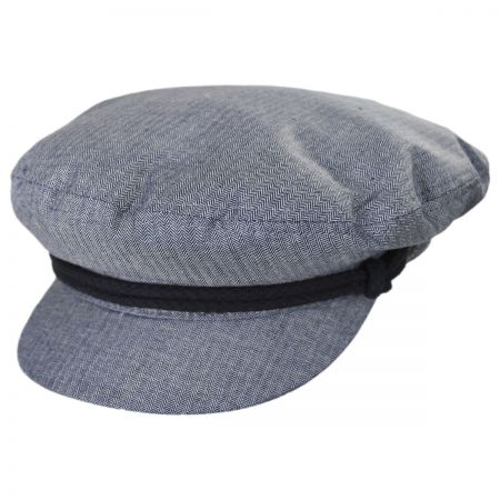 Micro Herringbone Cotton Fiddler Cap
