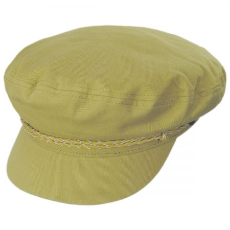 Leather Band Cotton Fiddler Cap