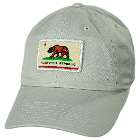 58fc7ea0018 American Needle Cali Badger Slouch Strapback Baseball Cap Dad Hat