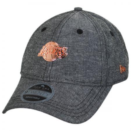 New Era Los Angeles Lakers 9Twenty Badged Strapback Baseball Cap Dad Hat