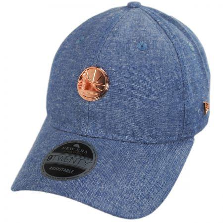 New Era Golden State Warriors 9Twenty Badged Strapback Baseball Cap Dad Hat