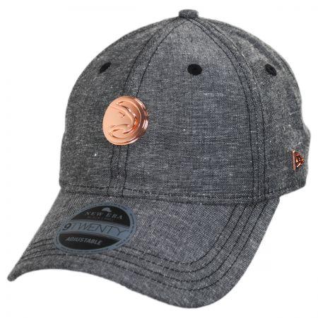 Atlanta Hawks 9Twenty Badged Strapback Baseball Cap Dad Hat