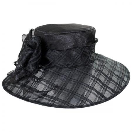 Odette Organza Down Brim Hat