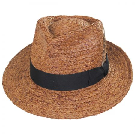 Crosby Raffia Straw Fedora Hat alternate view 7