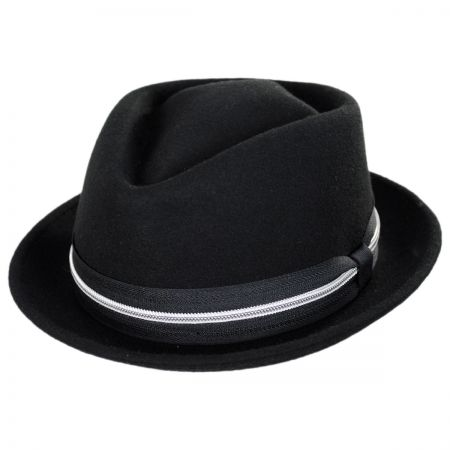 Terry Punk Ave Wool Felt Diamond Crown Fedora Hat alternate view 1