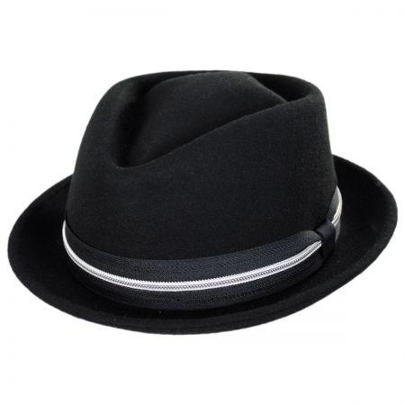 Bigalli Terry Punk Ave Wool Felt Diamond Crown Fedora Hat