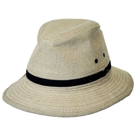 Linen Safari Fedora Hat alternate view 1