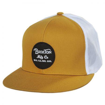 Brixton Hats Wheeler Trucker Snapback Baseball Cap
