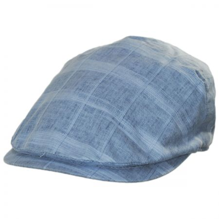 Windowpane Plaid Linen and Cotton Duckbill Ivy Cap alternate view 1