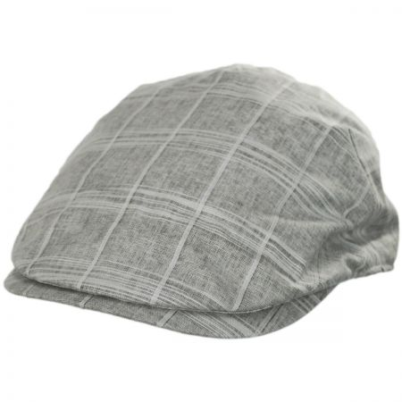 Windowpane Plaid Linen and Cotton Duckbill Ivy Cap alternate view 45