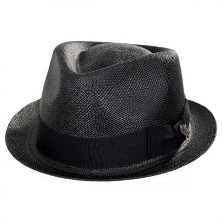Bigalli Boston Panama Straw Trilby Fedora Hat