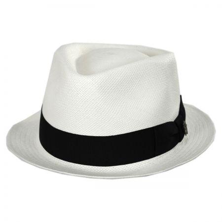 White Straw Fedora at Village Hat Shop 106181b263e