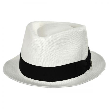 Bigalli Boston Panama Straw Trilby Fedora Hat